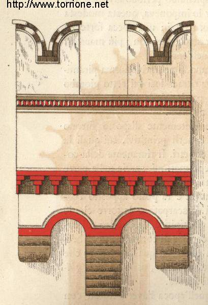 drawing of the machicolation
